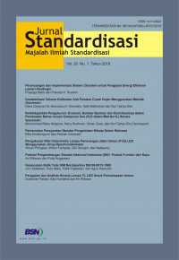 Image of Jurnal Standardisasi Vol. 20 No. 1 Tahun 2018